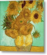 Sunflowers Metal Print by Vincent Van Gogh