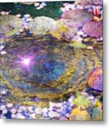 Sunglint On Autumn Lily Pond II Metal Print