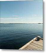 Sunny Day At The Dock Metal Print