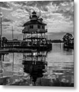 Sunrise At Drum Point Lighthouse Metal Print