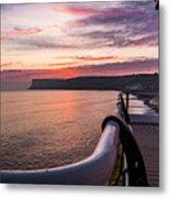 Sunrise At Saltburn Pier Metal Print