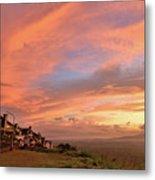 Sunrise At Tagaytay Highland Metal Print