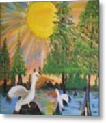 Sunrise In The Pelican State Metal Print