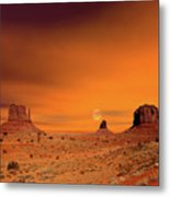 Sunrise Monument Valley Metal Print