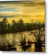 Sunrise On The Payette River Metal Print