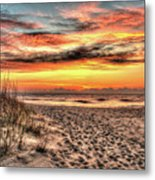 Sunrise Outer Banks Of North Carolina Seascape Metal Print