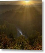Sunrise Over Mount Hood And Sandy River Metal Print