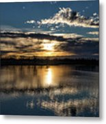Sunrise Reflections On The Great Plains Metal Print
