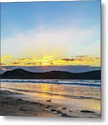 Sunrise Seascape And Crepuscular Rays Metal Print