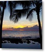 Sunset - Oahu West Shore Metal Print