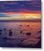 Sunset At Mauritius Metal Print