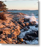 Sunset At Ocean Point, East Boothbay, Maine  -230204 Metal Print