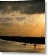 Sunset At Pass A Grille Florida Metal Print