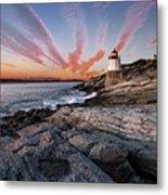 Sunset, Castle Hill Lighthouse  Metal Print