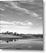 Sunset Clouds Over Wyoming Metal Print