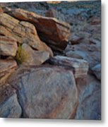Sunset Comes To Valley Of Fire Metal Print