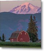 Sunset Reflection On Mt. Baker Metal Print