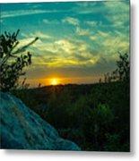 Sunset In Hudson Nh Metal Print