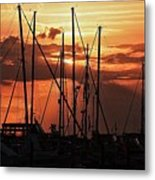 Sunset In Masts, South Fl. Metal Print