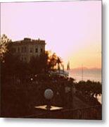 Sunset In Sorrento Metal Print