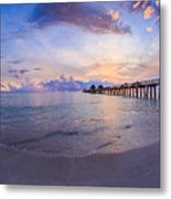 Sunset Naples Pier Florida Metal Print