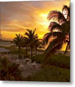 Sunset On Grace Bay Metal Print