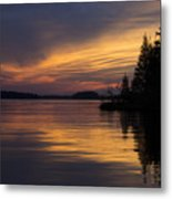 Sunset On The Chippewa Metal Print
