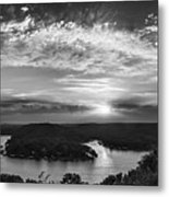 Sunset On The Niangua Metal Print