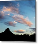 Sunset Over Thumb Butte Metal Print