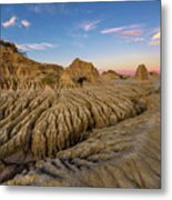 Sunset Over Walls Of China In Mungo National Park, Australia Metal Print