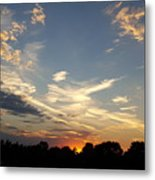 Sunset Sky Over Ohio Metal Print