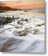 Sunset Tides Metal Print
