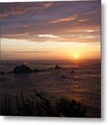 Sunset Watch Metal Print