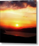 Sunsetting Over Portree, Isle Of Skye, Scotland No.2. Metal Print