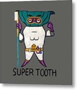 Super Tooth Metal Print