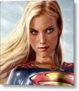 Supergirl Collection Metal Print