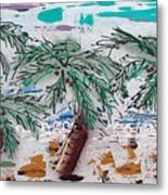 Surf N Palms Metal Print by J R Seymour