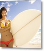 Surfer Girl Metal Print by Sri Maiava Rusden - Printscapes
