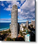 Surfers Paradise View Metal Print