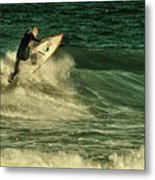 Surfing - Jersey Shore Metal Print