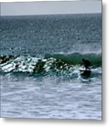 Surfing And Sailing Metal Print