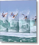 Surfing Sequence Metal Print