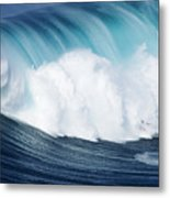 Surfing The Infamous Jaws Metal Print