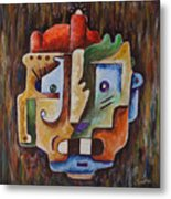 Surrealism Head Metal Print