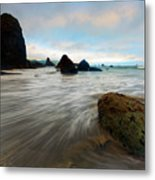 Surrounded By The Tides Metal Print