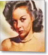 Susan Hayward, Vintage Hollywood Actress Metal Print