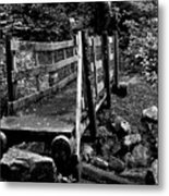 Swan Creek Footbridge Metal Print