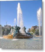 Swann Fountain - Center City Philadelphia Metal Print