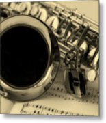 Sweet Sounds Of The Sax Metal Print