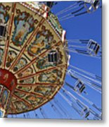 Swing Ride At The Fair Metal Print by Jeremy Woodhouse